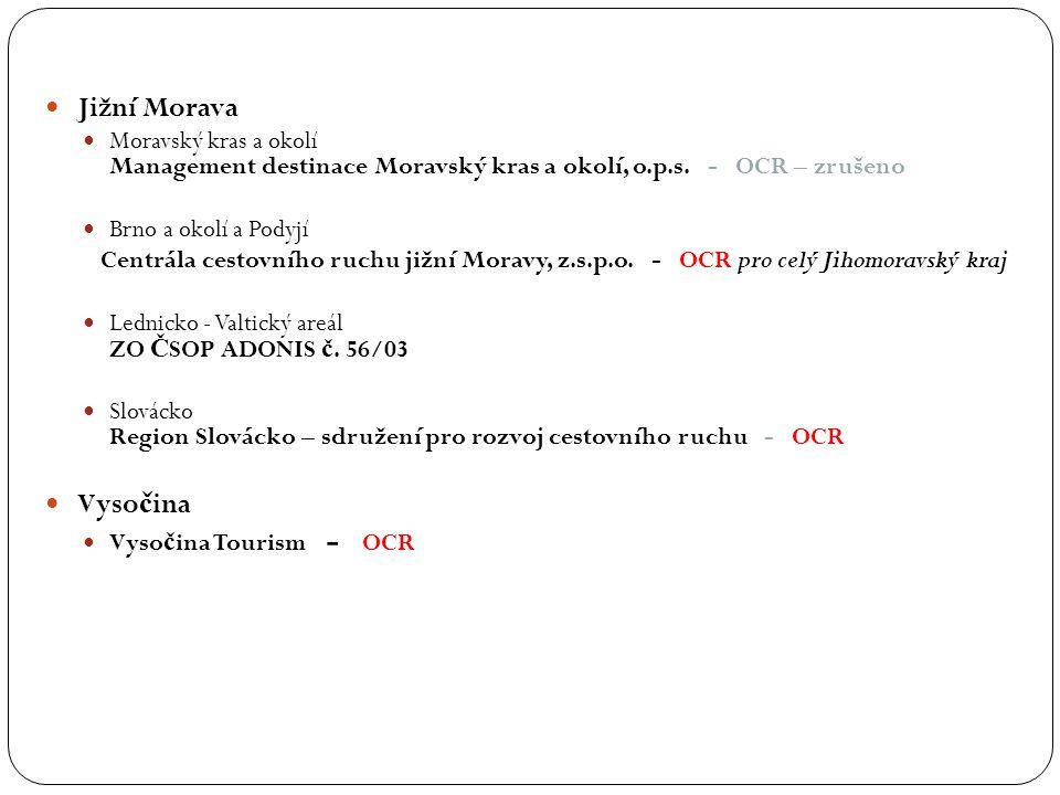Jižní Morava Moravský kras a okolí Management destinace Moravský kras a okolí, o.p.s. - OCR – zrušeno.