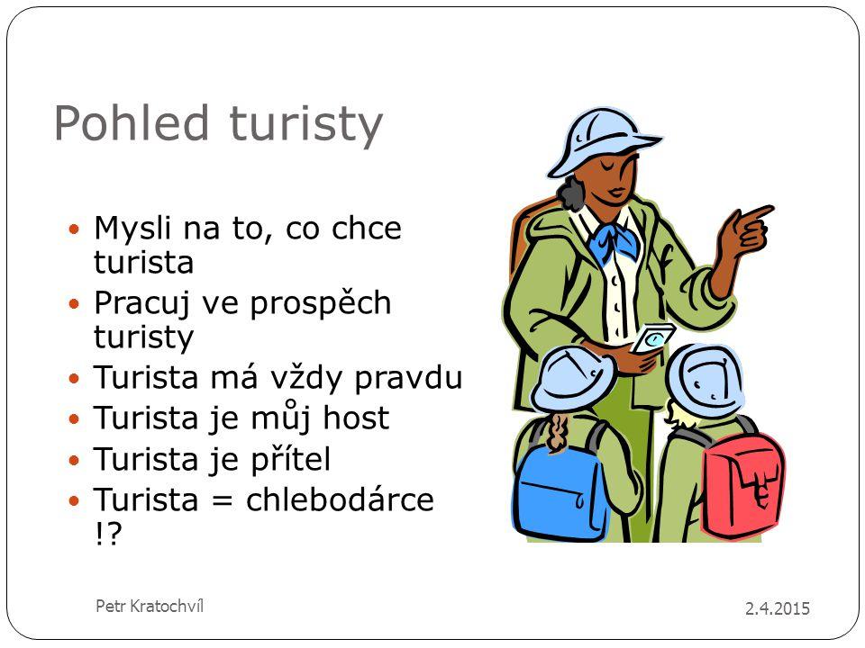 Pohled turisty Mysli na to, co chce turista Pracuj ve prospěch turisty