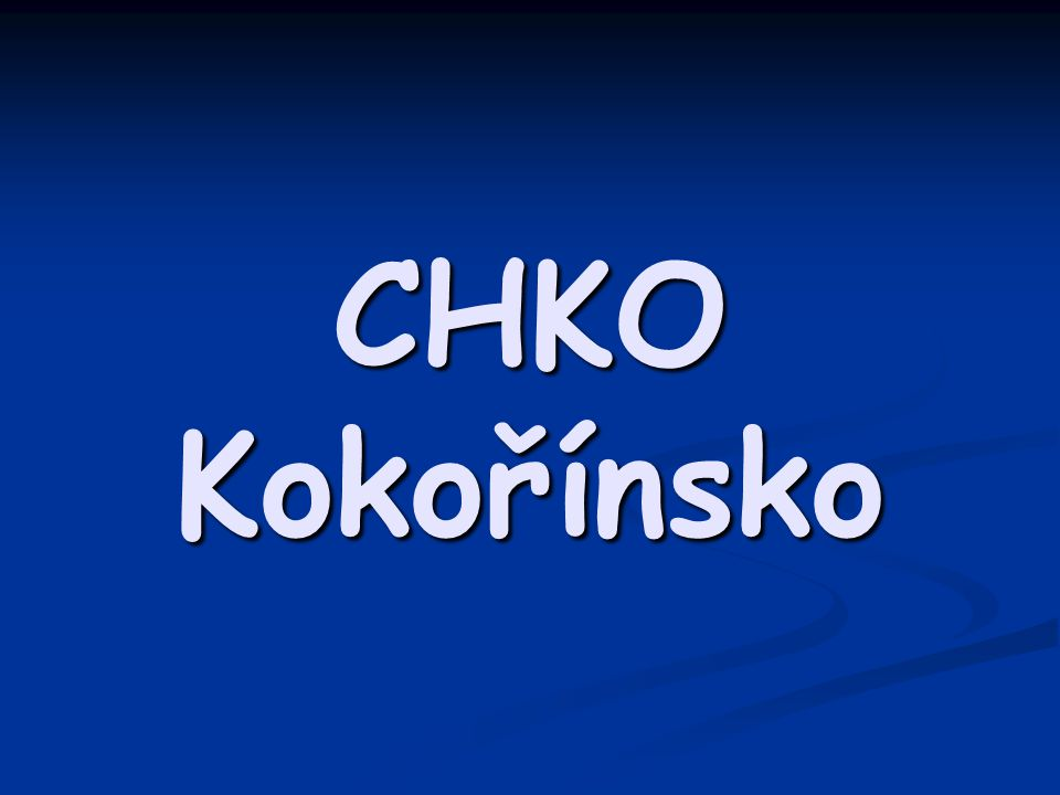 CHKO Kokořínsko