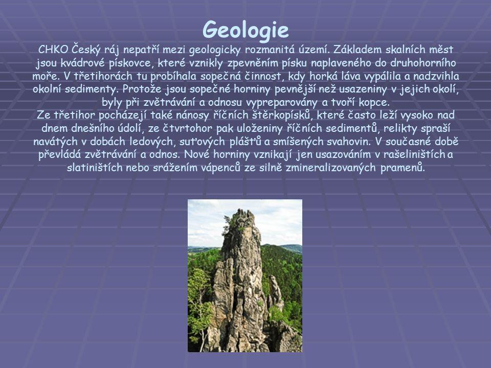 Geologie CHKO Český ráj nepatří mezi geologicky rozmanitá území
