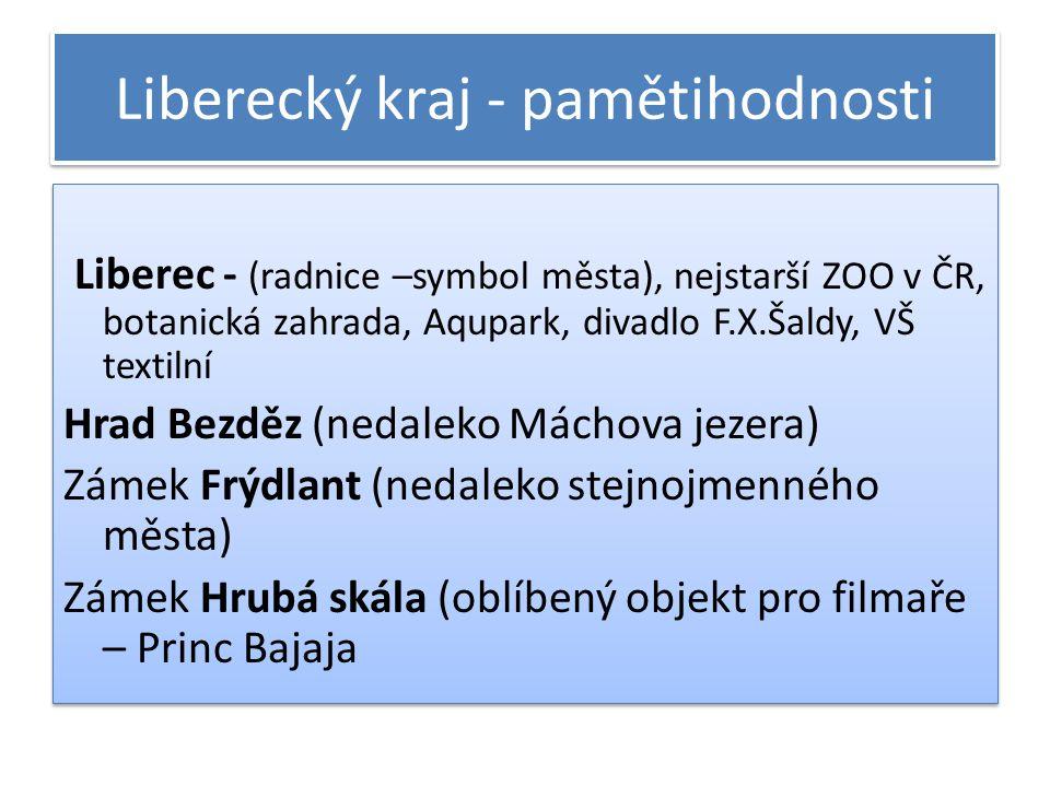 Liberecký kraj - pamětihodnosti