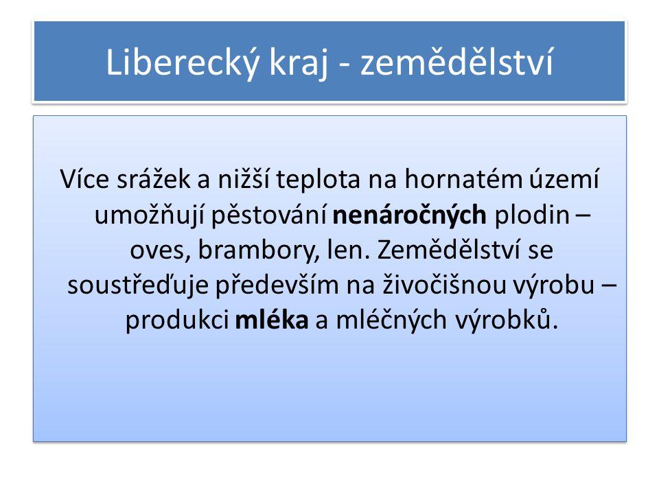 Liberecký kraj - zemědělství