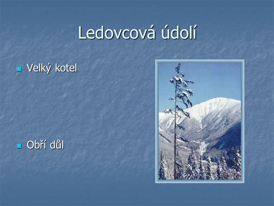 Ledovcová údolí Velký kotel Obří důl