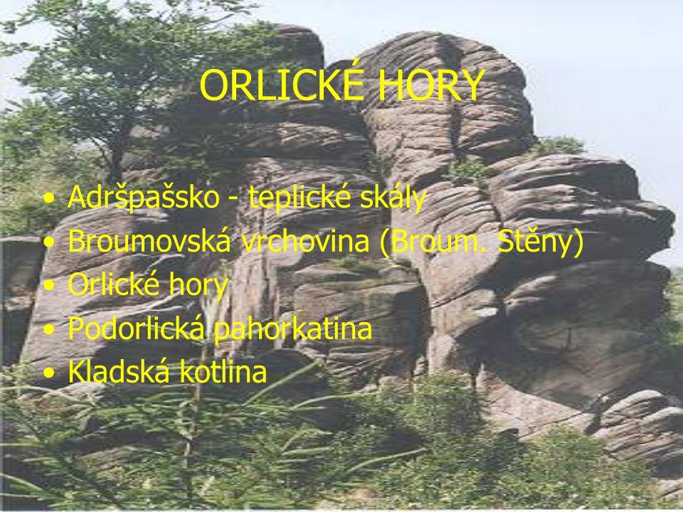 ORLICKÉ HORY Adršpašsko - teplické skály