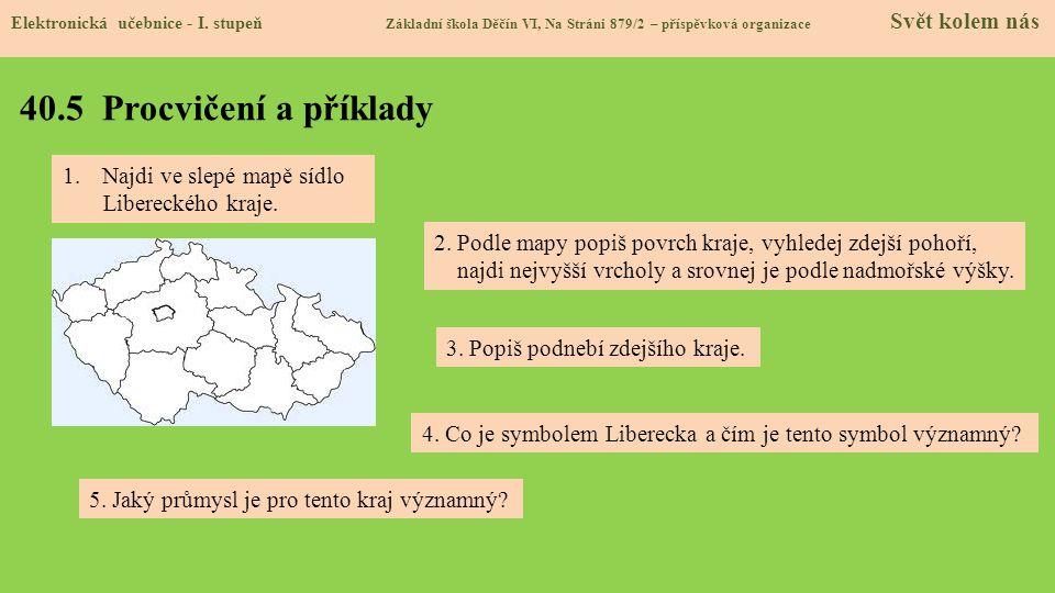 40.5 Procvičení a příklady Najdi ve slepé mapě sídlo