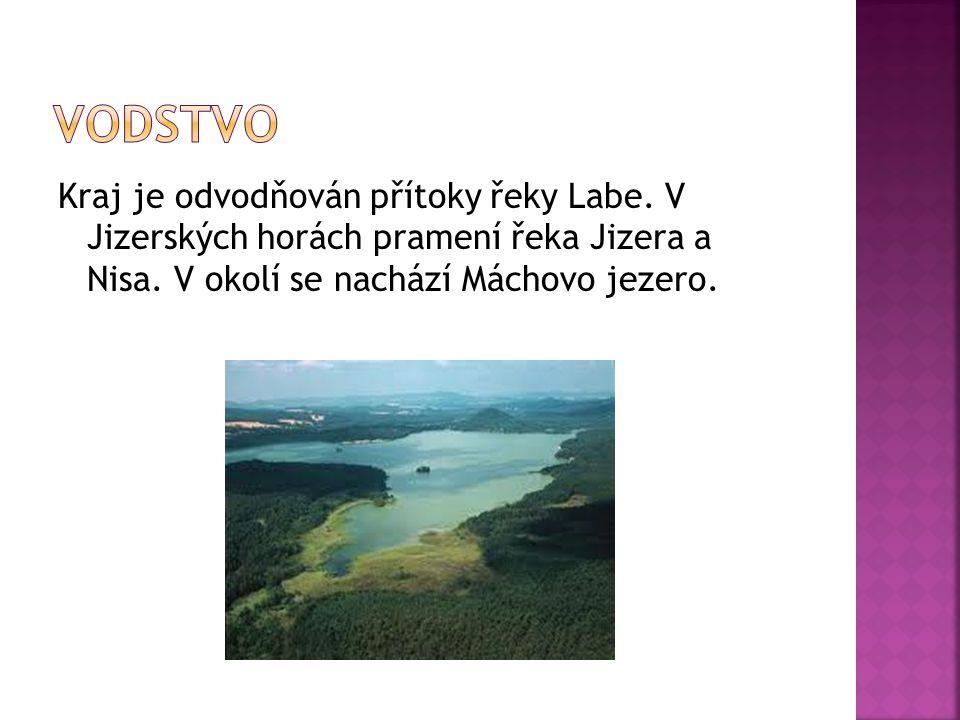 Vodstvo Kraj je odvodňován přítoky řeky Labe. V Jizerských horách pramení řeka Jizera a Nisa.
