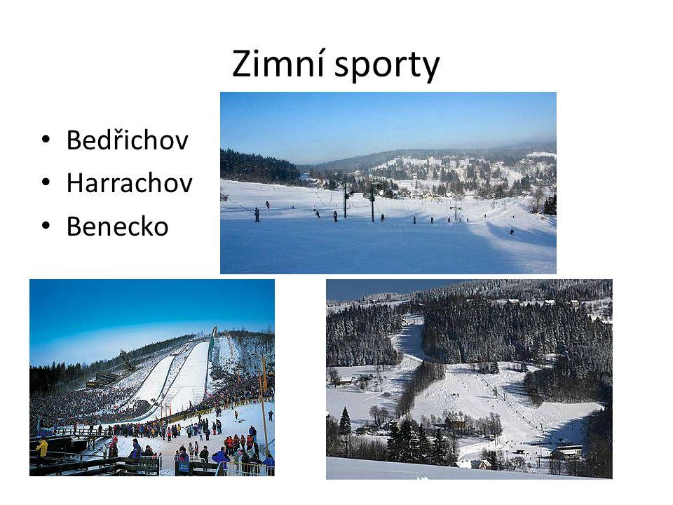 Zimní sporty Bedřichov Harrachov Benecko