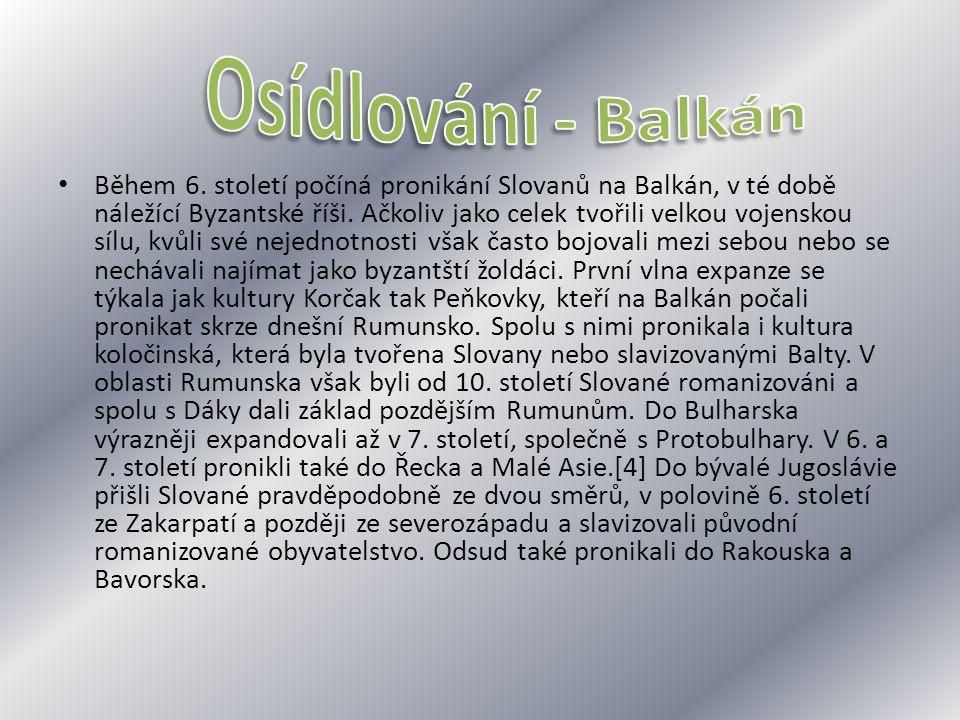 Osídlování - Balkán