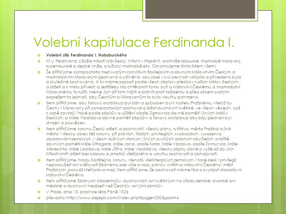 Volební kapitulace Ferdinanda I.