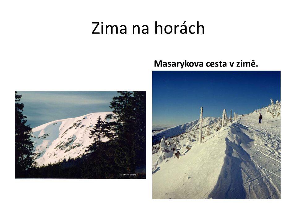 Zima na horách Masarykova cesta v zimě.