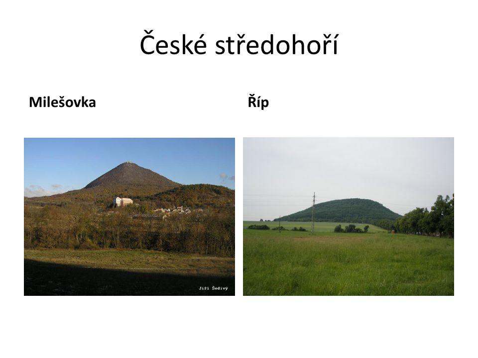 České středohoří Milešovka Říp