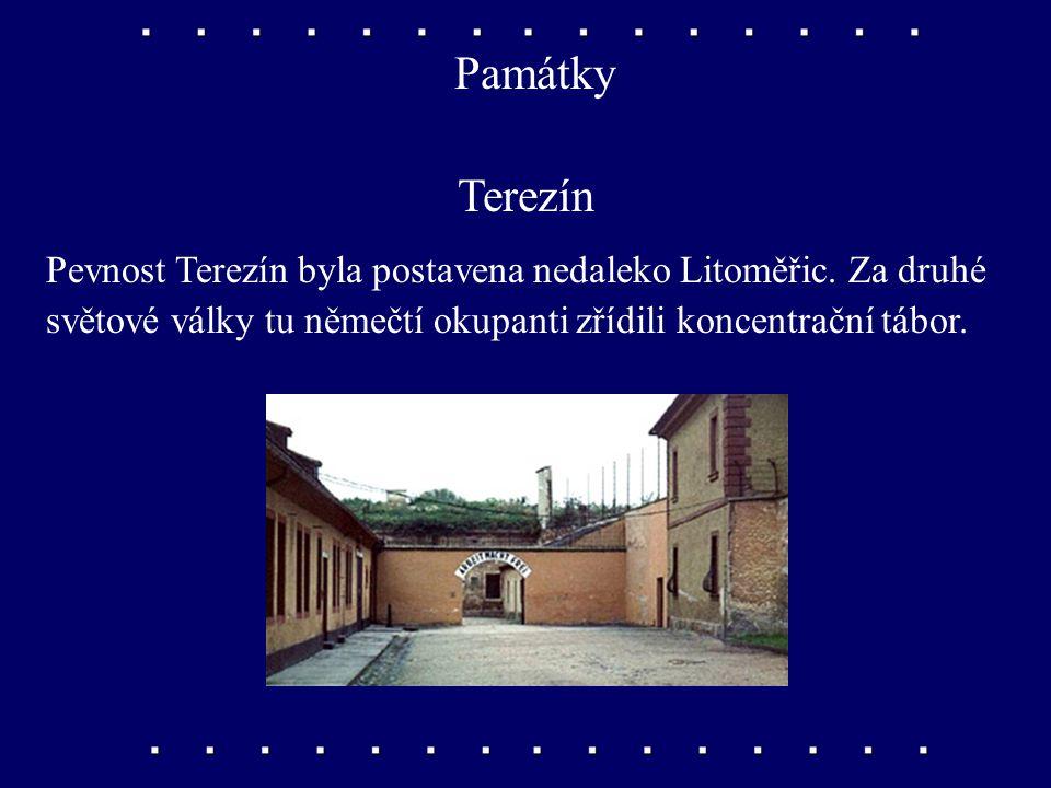 Památky Terezín. Pevnost Terezín byla postavena nedaleko Litoměřic.