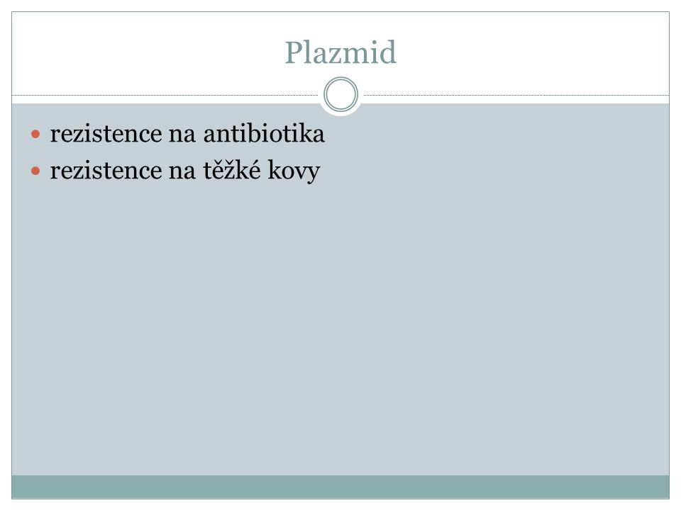 Plazmid rezistence na antibiotika rezistence na těžké kovy