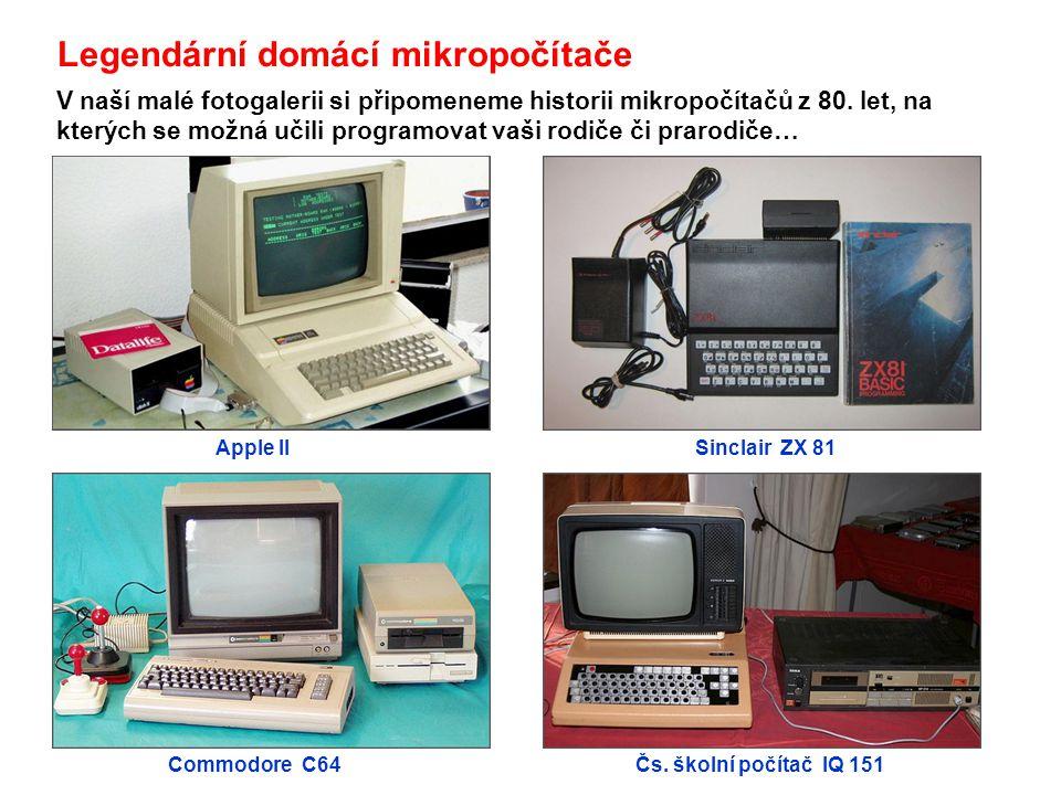 Legendární domácí mikropočítače