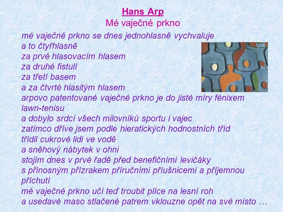 Hans Arp Mé vaječné prkno