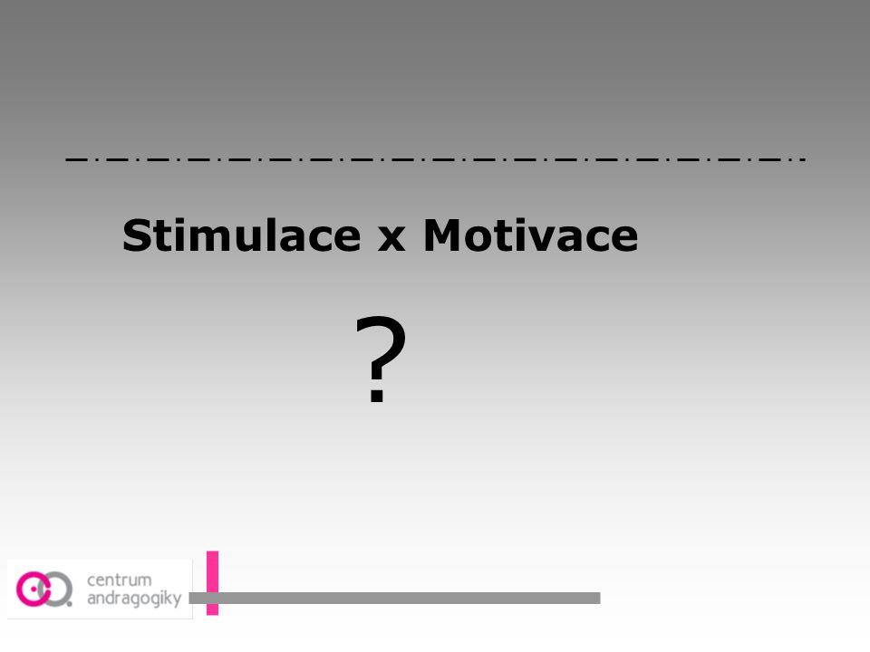 Stimulace x Motivace