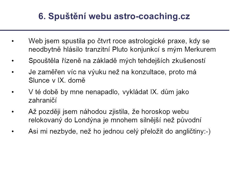 6. Spuštění webu astro-coaching.cz