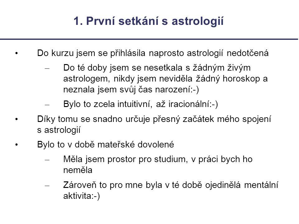 1. První setkání s astrologií