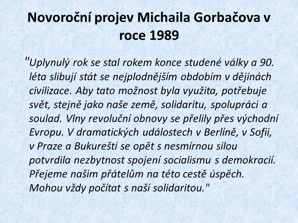Novoroční projev Michaila Gorbačova v roce 1989