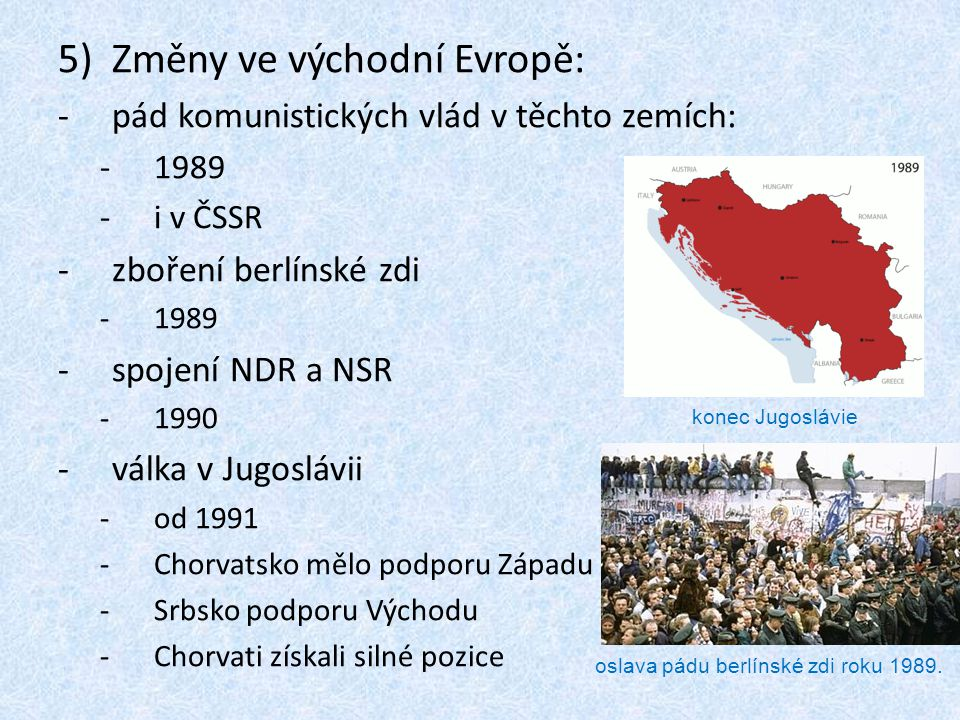 Změny ve východní Evropě: