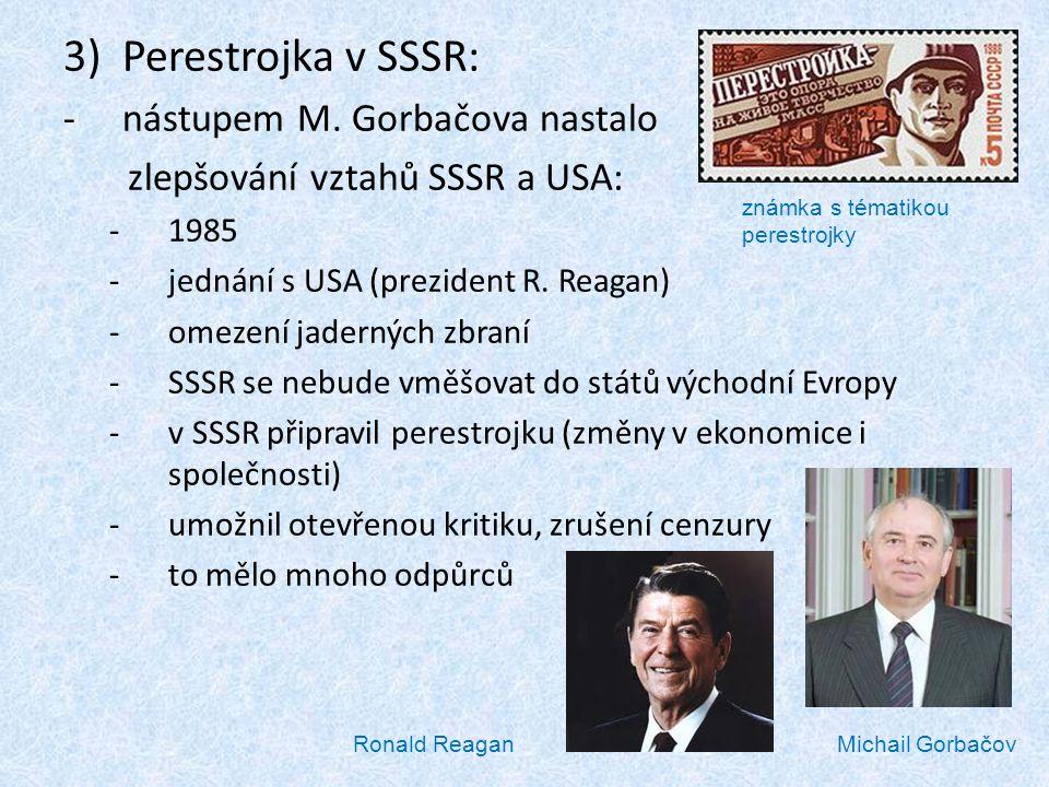 Perestrojka v SSSR: nástupem M. Gorbačova nastalo