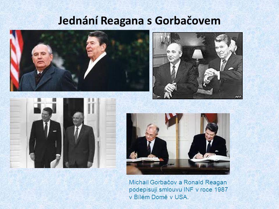 Jednání Reagana s Gorbačovem