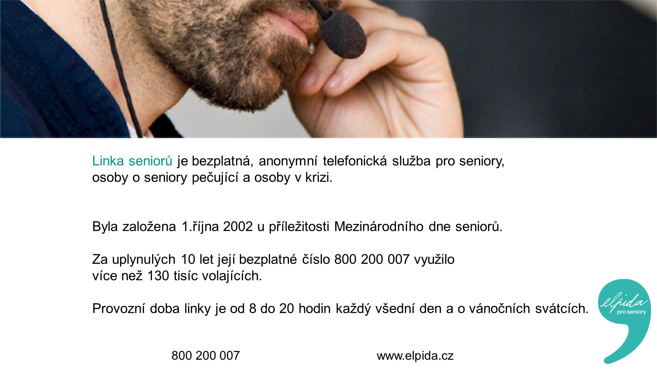 Linka seniorů je bezplatná, anonymní telefonická služba pro seniory,