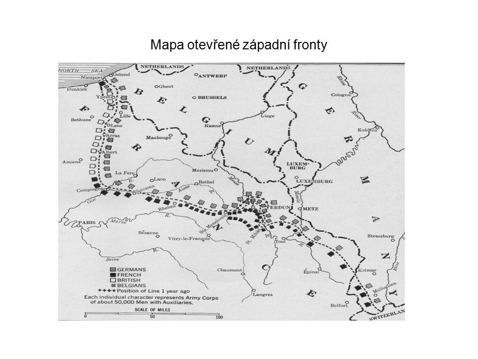 Mapa otevřené západní fronty