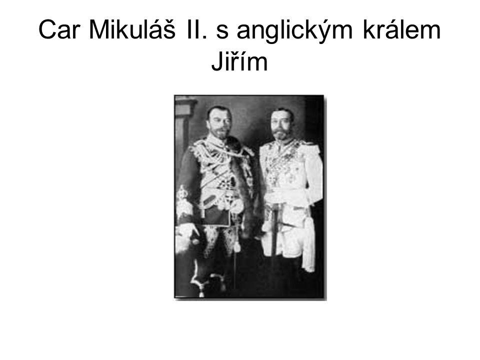 Car Mikuláš II. s anglickým králem Jiřím