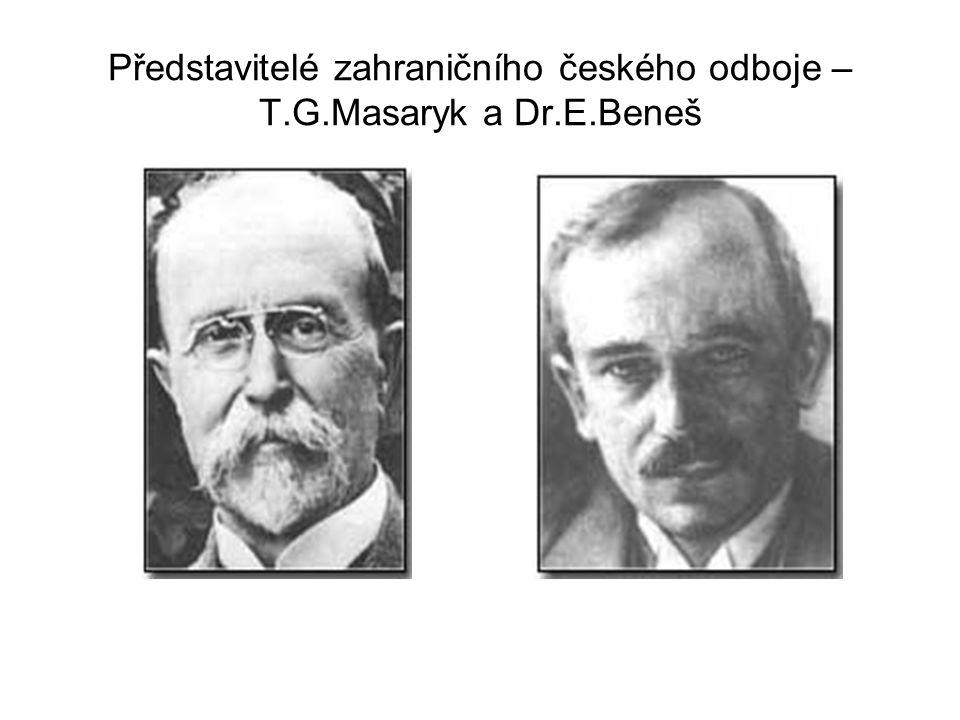 Představitelé zahraničního českého odboje – T.G.Masaryk a Dr.E.Beneš