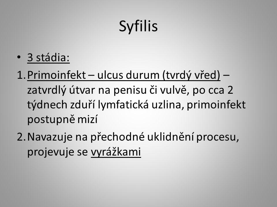 Syfilis 3 stádia:
