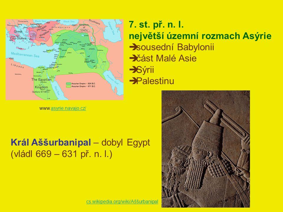 největší územní rozmach Asýrie sousední Babylonii část Malé Asie Sýrii