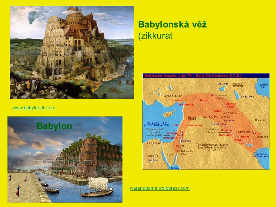 Babylonská věž (zikkurat Babylon www.babylon90.com