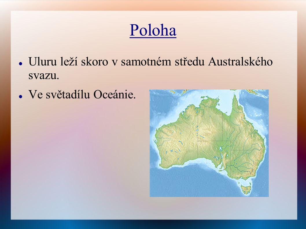 Poloha Uluru leží skoro v samotném středu Australského svazu.