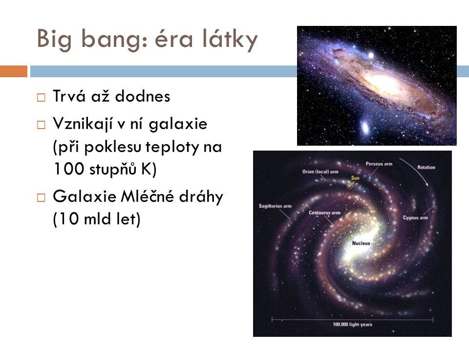 Big bang: éra látky Trvá až dodnes