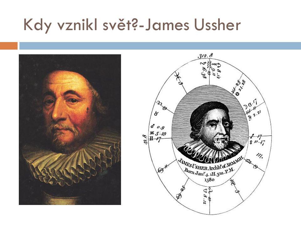 Kdy vznikl svět -James Ussher