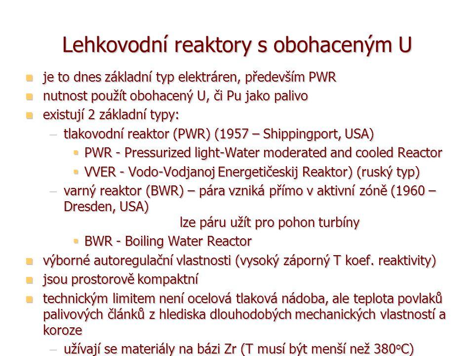Lehkovodní reaktory s obohaceným U