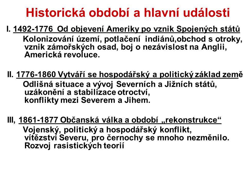 Historická období a hlavní události