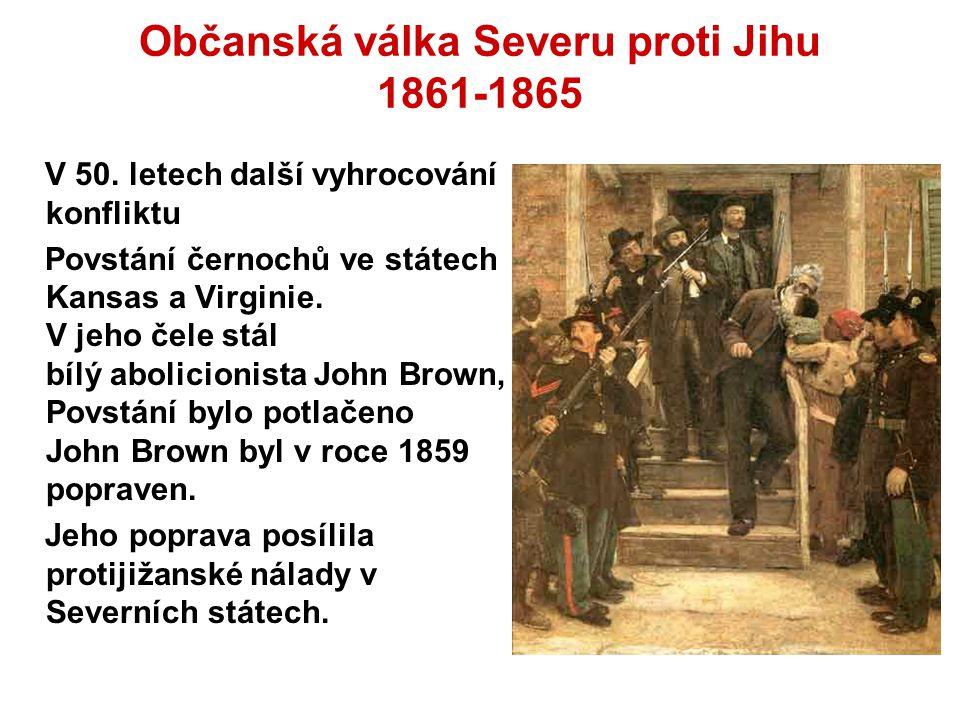 Občanská válka Severu proti Jihu 1861-1865