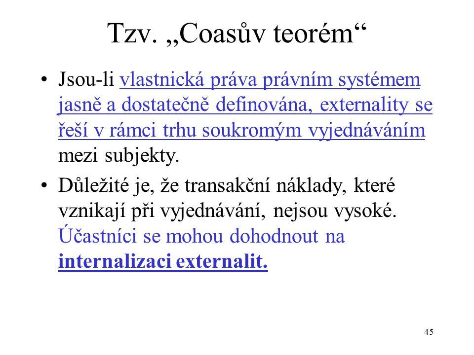 "Tzv. ""Coasův teorém"
