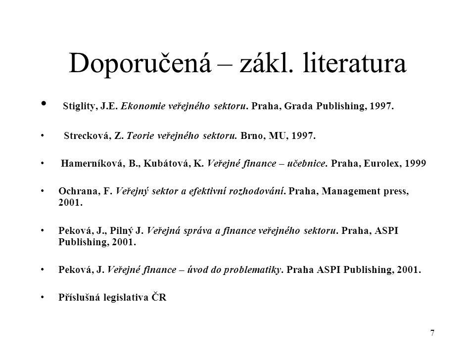 Doporučená – zákl. literatura