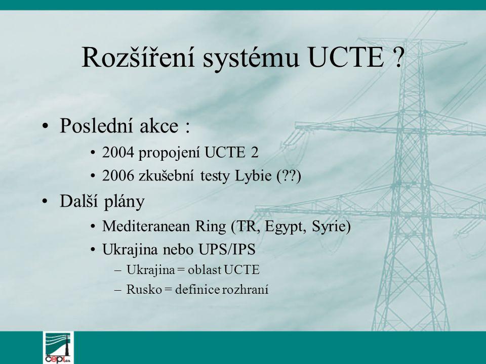 Rozšíření systému UCTE