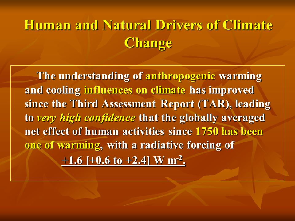 Human and Natural Drivers of Climate Change