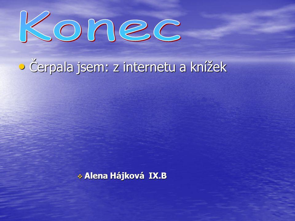 Konec Čerpala jsem: z internetu a knížek Alena Hájková IX.B