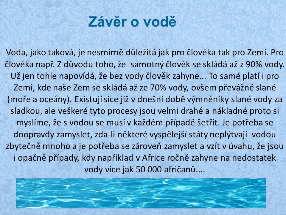Závěr o vodě