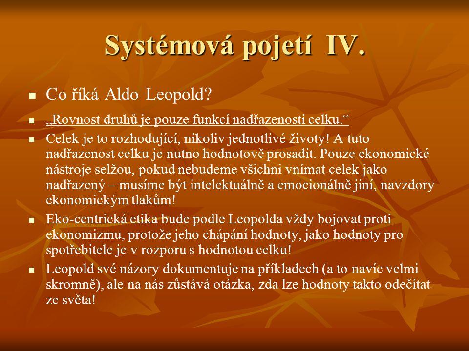 Systémová pojetí IV. Co říká Aldo Leopold