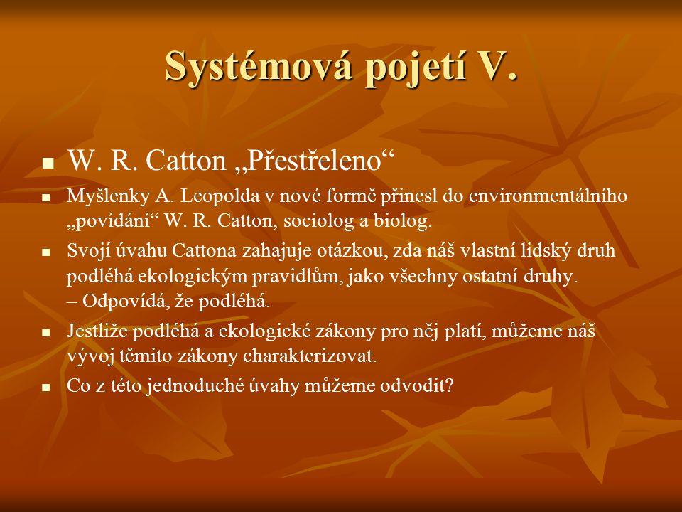 """Systémová pojetí V. W. R. Catton """"Přestřeleno"""