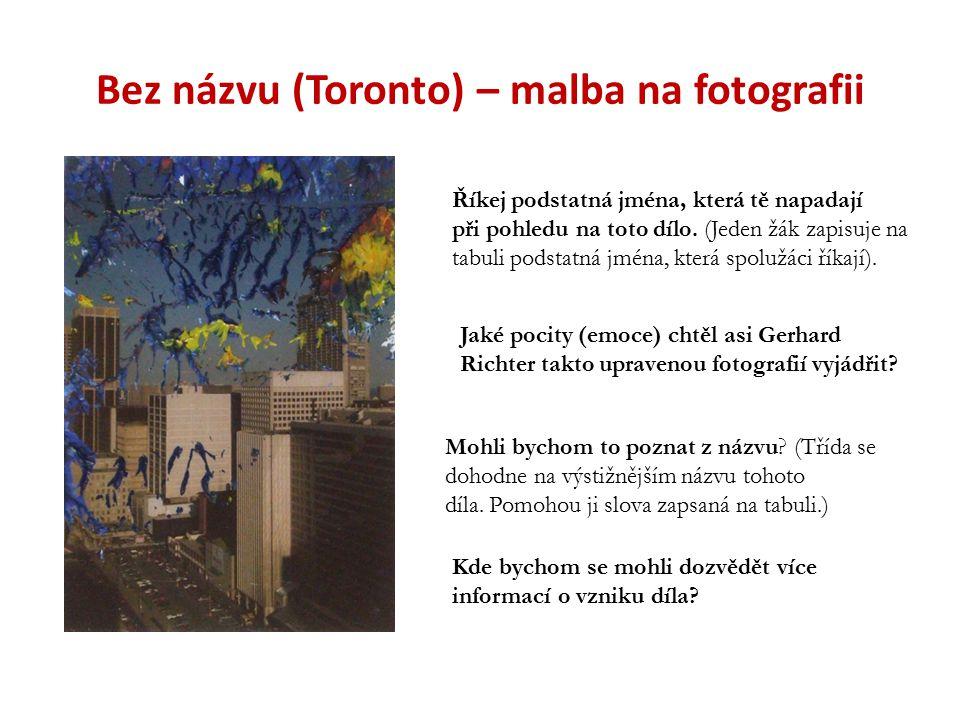 Bez názvu (Toronto) – malba na fotografii