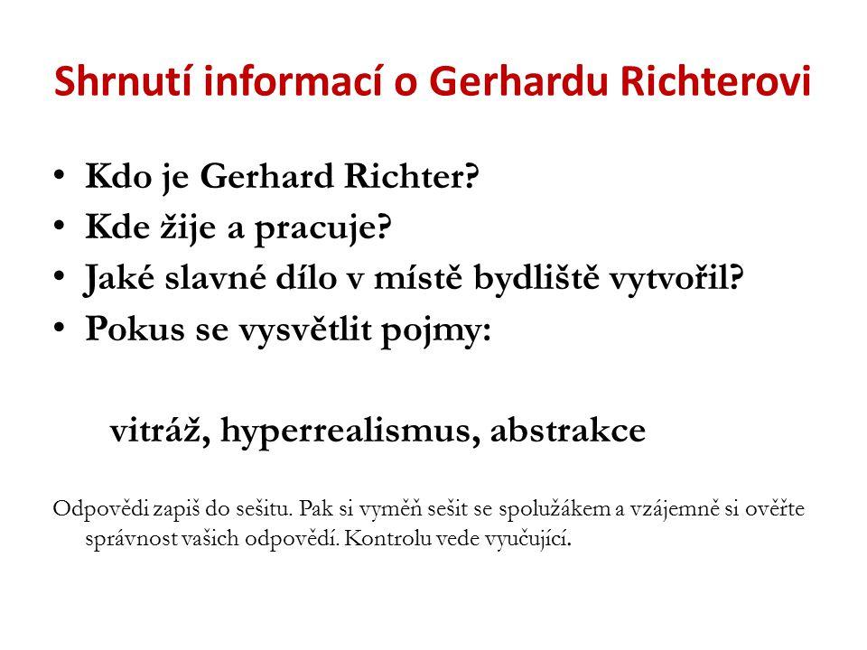 Shrnutí informací o Gerhardu Richterovi