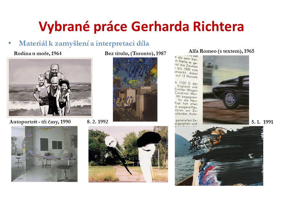 Vybrané práce Gerharda Richtera